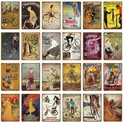 Passeio de Bicicleta Motor Ciclismo Bicicleta Da Equitação Do Vintage Poster Metal Tin Signs Bar Pub Club Home Room Decor Adesivos de Parede Placa