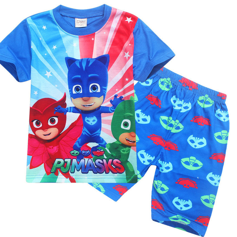 Pj Masks Pajama 2018 Summer T Shirt + Pants Children Cartoon 2PCS Sets Baby  Boys Girls Pure Cotton Sleepwear Kidu0027s Homewear Suit In Pajama Sets From  Mother ...