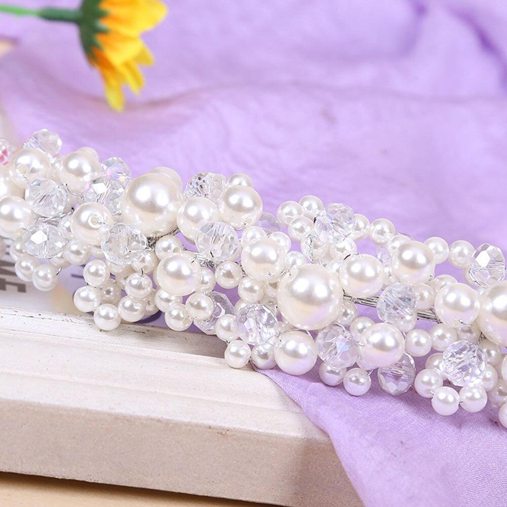 Hochzeit Haarschmuck Für Noiva Braut Kristall Perle Handgemachte - Modeschmuck - Foto 3