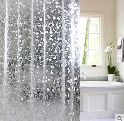 Exceptional Kingart PVC Transparent Shower Curtain Home Bathroom Solid Color Curtain  Hotel Hook Or Double Pleated Waterproof Shower Crutain In Shower Curtains  From Home ...