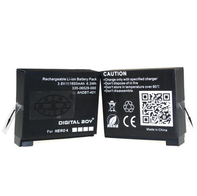 <font><b>Gopro</b></font> 3.8 В 1650 мАч камера аккумулятор Go Pro AHDBT-401 AHDBT 401 аккумулятор для <font><b>GoPro</b></font> герой <font><b>4</b></font> Hero4