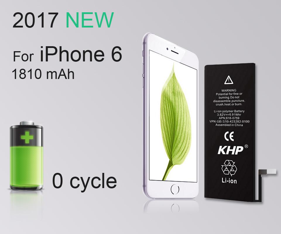 NEW 2017 100% Original KHP Phone Battery For iPhone 6 Capacity 1810mAh Repair Tools 0 Cycle Replacement Mobile Batteries Sticker (7)