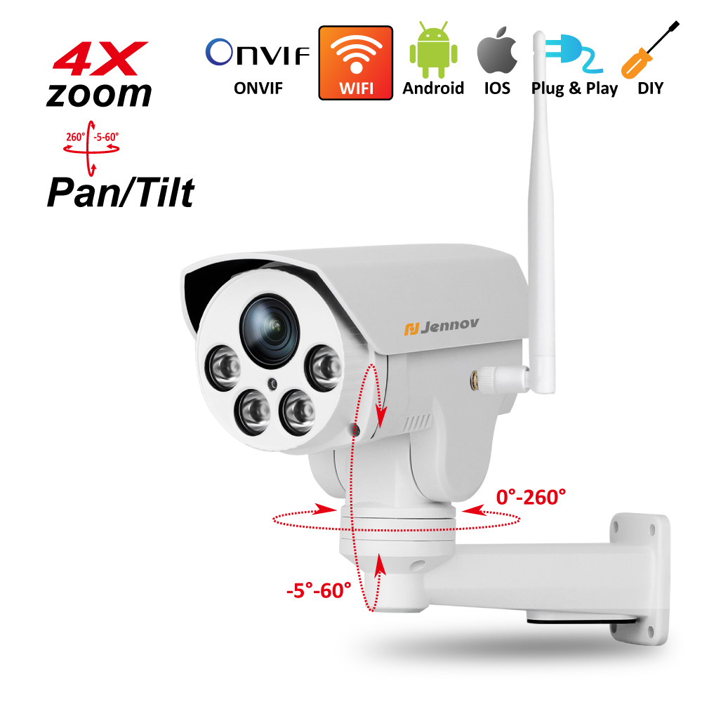 PTZ IP Camera Wireless Wifi 4X Zoom 2.8 12mm,2.8mm ,3.6mm 6mm Full HD 1080P 960P Outdoor Security ipCam Audio Video Surveillance