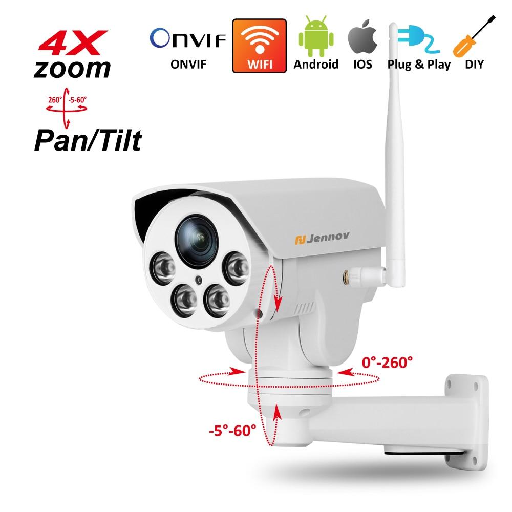 PTZ IP Camera Wireless Wifi 4X Zoom 2.8-12mm,2.8mm ,3.6mm 6mm Full HD 1080P 960P Outdoor Security ipCam Audio Video Surveillance