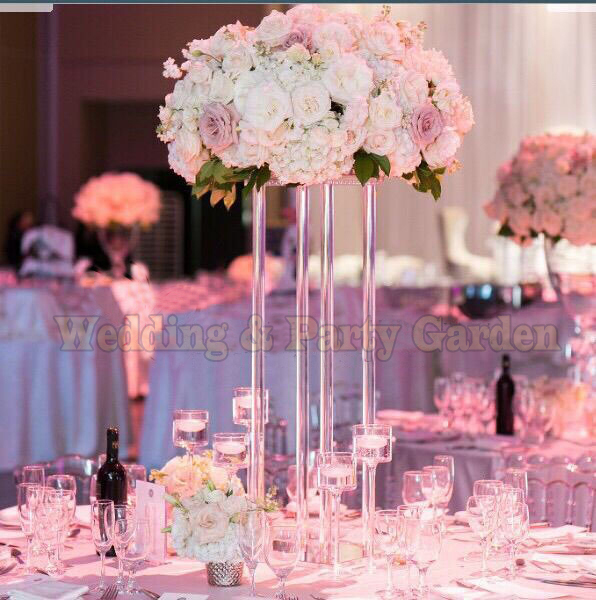 60cm Tall Crystal Flower Stand Table Centerpiece Wedding