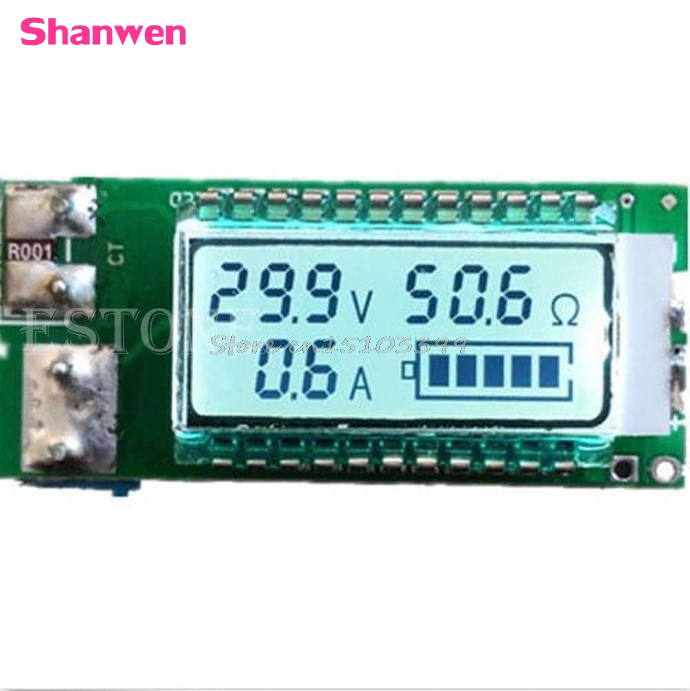 18650 battery Lithium Li-ion tester Capacity Current Voltage Detector LCD meter G08 Drop ship