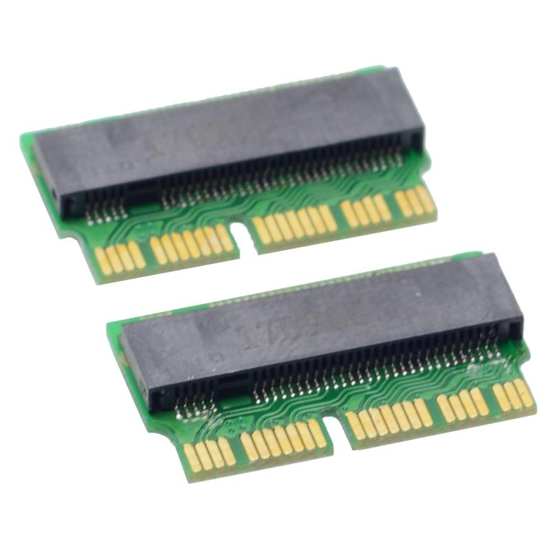 M clave M.2 PCI-E NVMe SSD Tarjeta de adaptador para 2013, 2014, 2015 MACBOOK aire A1465 A1466 Pro A1398 A1502 A1419 NGFF a MD711 MD712