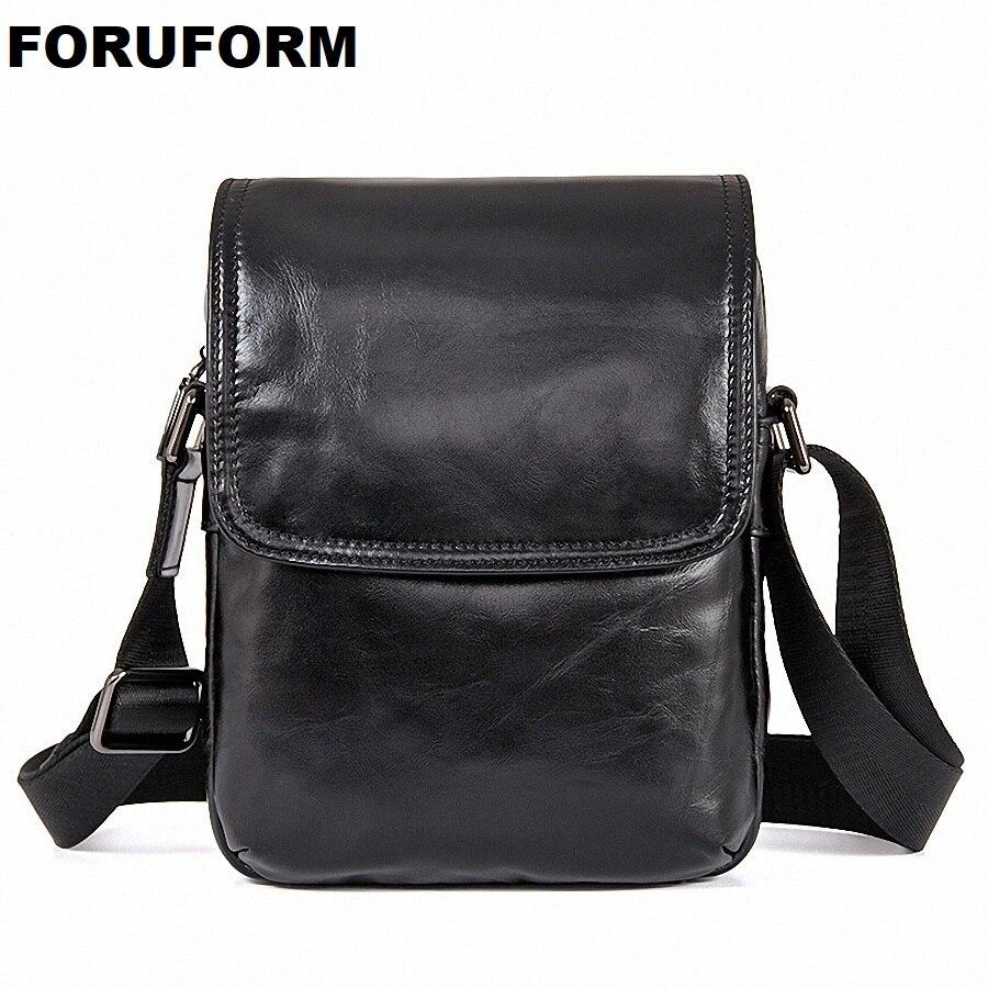 купить Business Men Genuine Leather Bag Natural Cowskin Men Messenger Bag Vintage Vertical Men's Cowhide Shoulder Crossbody Bag LI-2021 по цене 2224.29 рублей