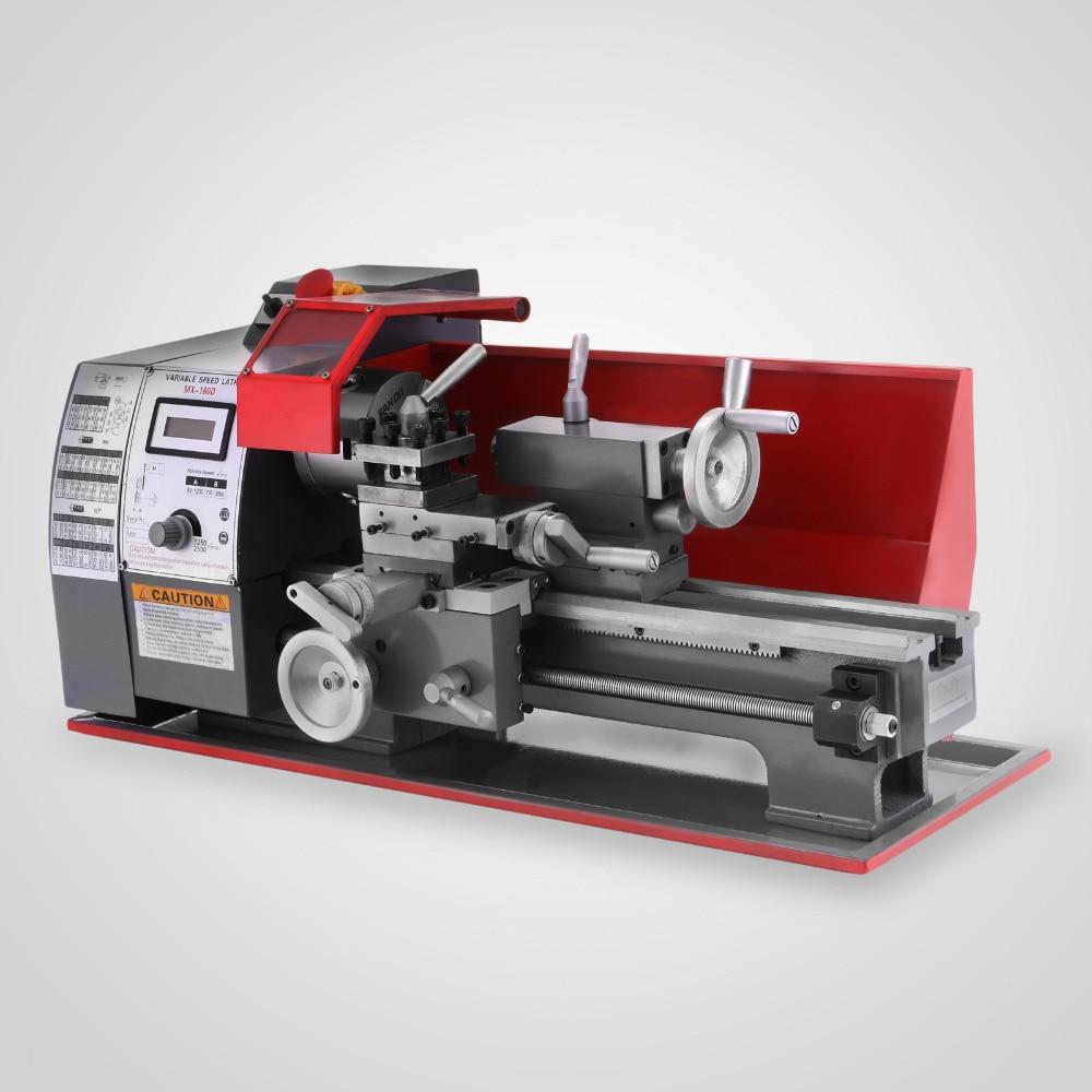 600W Mini Metal Turning Lathe Metalworking Woodworking Bench Top 2500RPM Digital