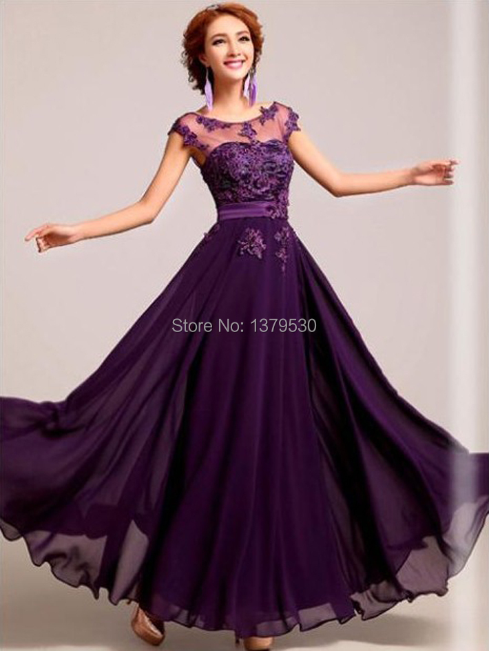 Шифоновые платья фиолетовая