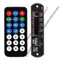 Negro Remoto ZTV-M011 Módulo Controlador Remoto SD Reproductor de MP3 FM USB 2.0 de 3.5mm jack de salida Y8