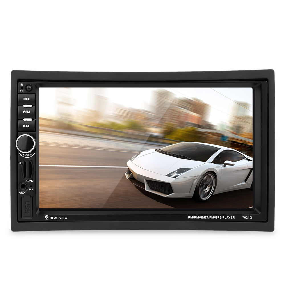 Universal 2 Double Din Car Video Player Bluetooth FM Radio GPS Map Audio MP3 MP5 Car Multimedia Player 1080P HD Remote Control
