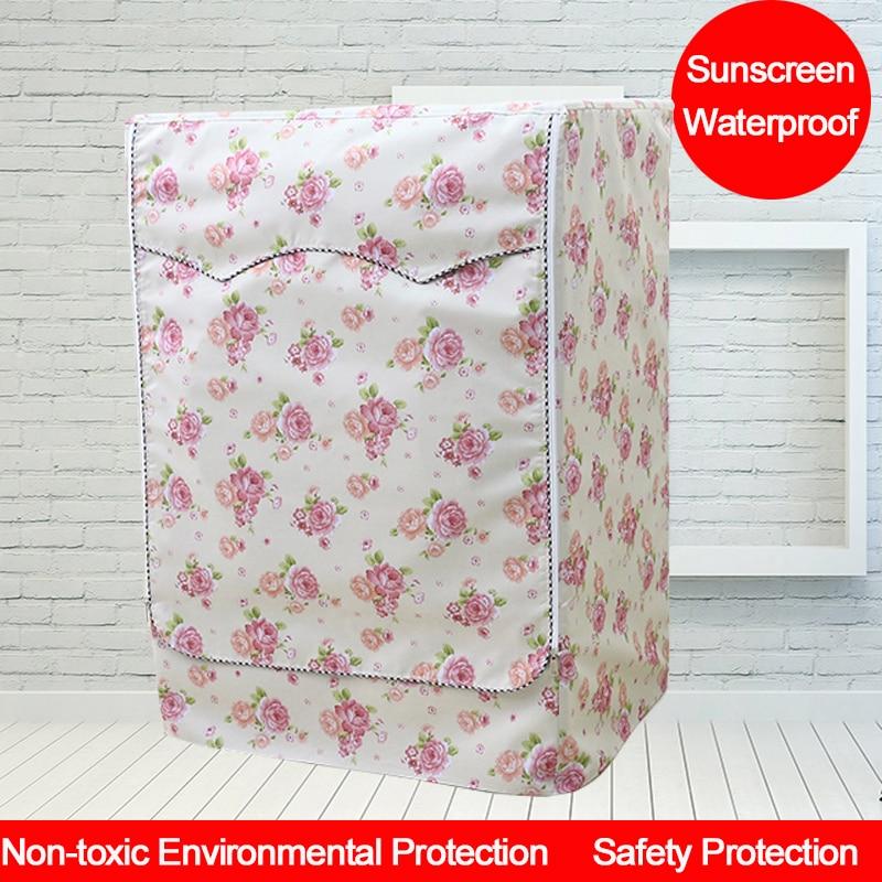 Flora UV izturīgs veļas mazgājamās mašīnas apvalks Ūdensnecaurlaidīgs mazgātāja audums un putekļu necaurlaidīgi uzglabāšanas maisi priekšējās atveres mazgātājiem biezs audums