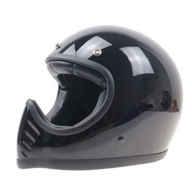 THH serials Fiber glass Full Face motorcycle helmet Retro motorcycle helmet DD ring buckle Leather cover helmet ...