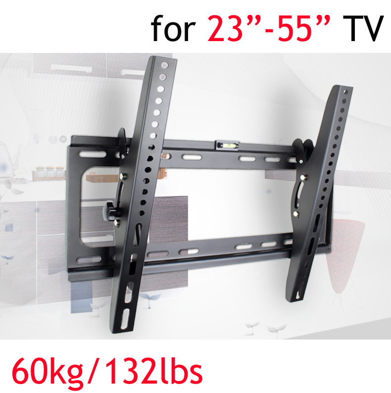 "PTB-6044T 23""30""40""55"" wall mount tv bracket 50"" metal 60kg vesa 400x400 Panel LCD TV Wall Mount tilt up down 15 build-in bubble"
