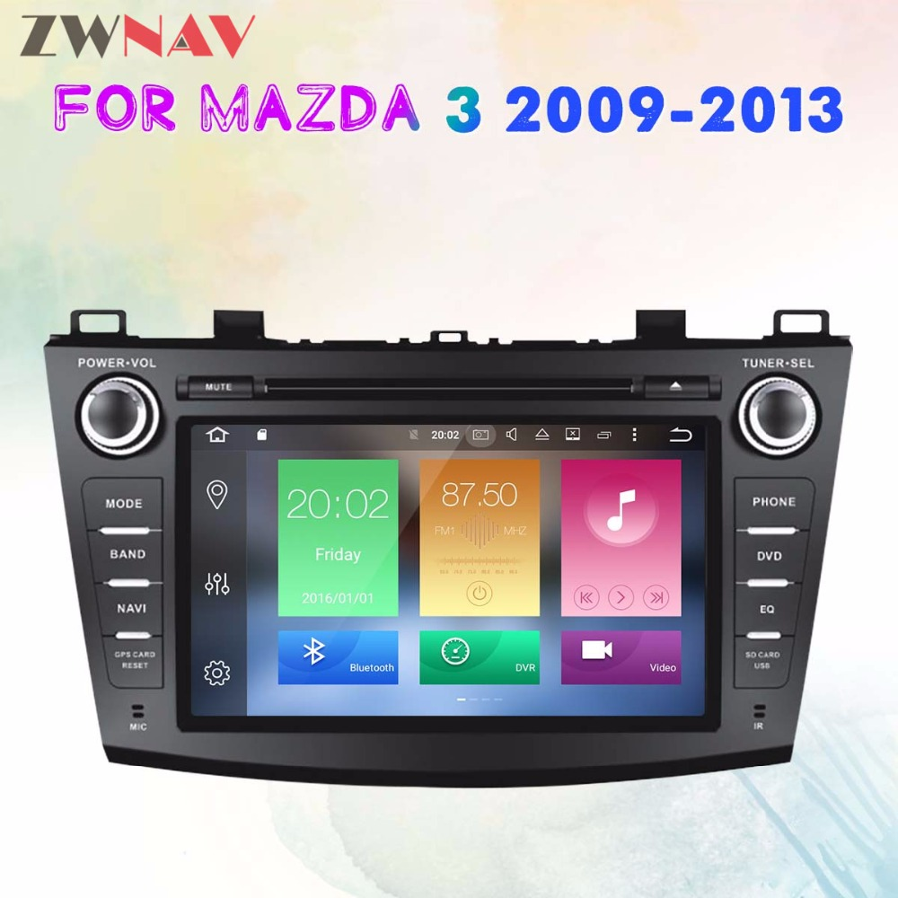 8 Core Android 8.0 RAM 4G ROM 32GB 2Din Car GPS Navigation DVD Player Unit For Mazda 3 Axela 2009 2013 Free map and camera