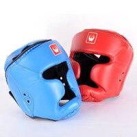2016 Couro Novo PU De Proteção de Boxe Chefe de Guarda de Boxe Chapelaria Capacete Capacetes De Boxe Trainning Frete Grátis