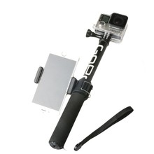 Gopro Accessories Self Selfie Stick Handheld Extendable Pole Monopod Tripod Phone Holder Adapter for Go Pro HERO 5 4 3+
