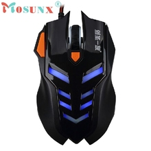 Beautiful Gift New 2400DPI Adjustable LED Optical Wired Gaming Mouse For Laptop PC Gamer Wholesale price Jun7