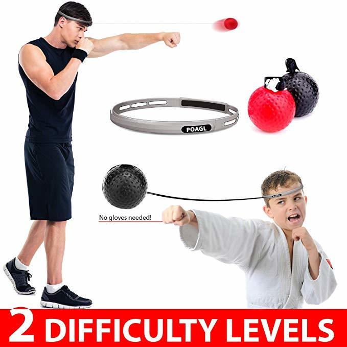 bola de lucha Reflex en cuerda con diadema para lucha MMA entrenamiento de velocidad reacciones adultos//ni/ños mejorar el punz/ón enfoque deporte ejercicio Pelota de boxeo Reflex