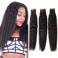EVET Brazilian Kinky Straight Hair 3 Bundles Brazilian Virgin Hair Straight Weave 6A Grade Yaki Virgin Hair Extensions 100g/pcs