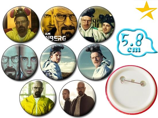 Breaking Bad Badge Pins Set PVC Badges Brooch Pin Chest Button Cosplay Collection Gift