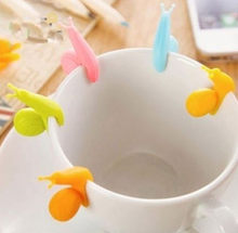 Cute Candy Colors 6 PCS/Set Snail Shape Silicone For Mug Cup Tea Bag Holder Tea Tools Gift Wholesale(China)