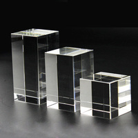 Wholesale Blank 3D Laser Engraving K9 Shining Crystal Block Cube For Birthday Gifts