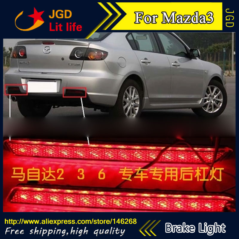 ФОТО Free shipping Tail light parking warning rear bumper reflector for Mazda3 Mazda 3 M3 Car styling