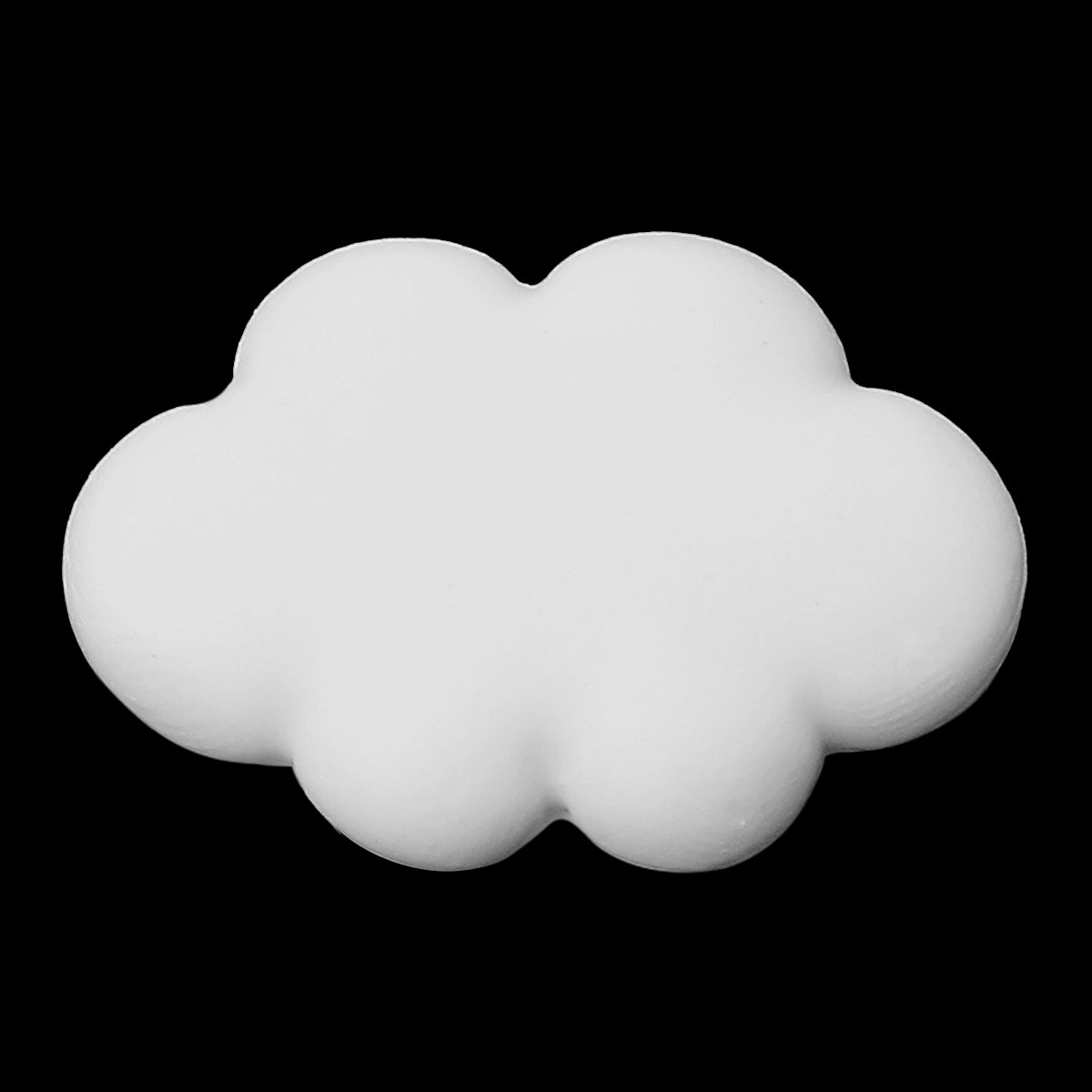 Polymer Clay Cabochon Scrapbooking Embellishments Findings Cloud White 25mm(1)x 18mm(6/8),30 PCs new