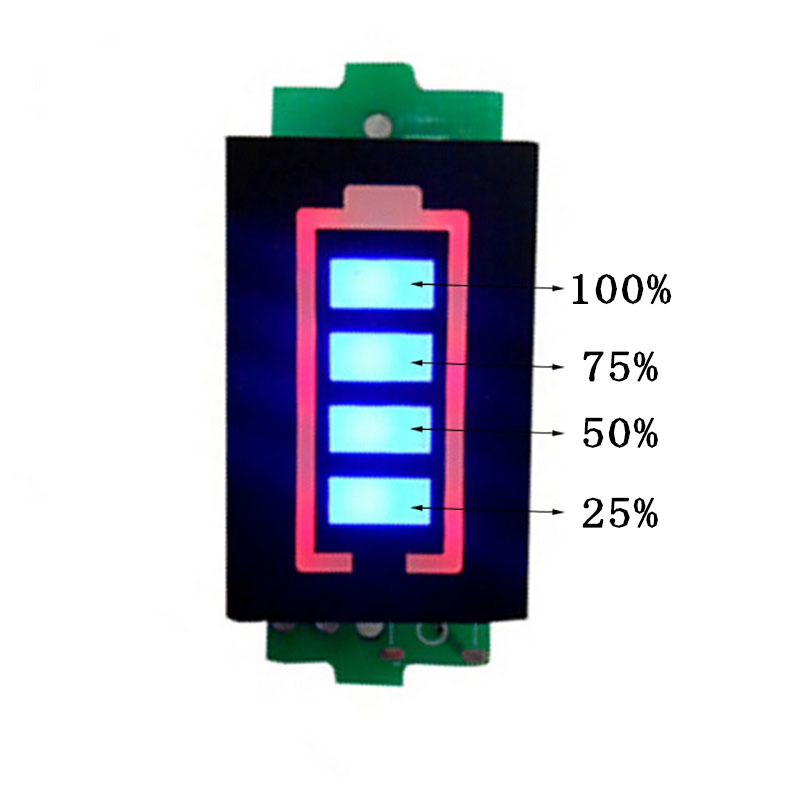 4S 4 Series Lithium Battery Capacity Indicator Module 16.8V Blue Display Electric Vehicle Battery Power Tester Battery Indicator 2016 new lithium battery battery capacity indicator lcd digital percentage residual capacity display