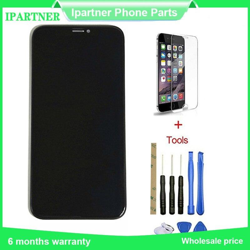 Мобильный телефон ЖК дисплей для Iphone X ЖК дисплей Сенсорный экран Запчасти для авто 10 шт./лот 5,8 дюймов Высокое качество Черного цвета; Беспла