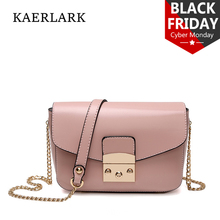 Kaerlark Limited Brand New 2017 Bolsas Mujer Women Small Chain Flap Messenger Bags Girl Woman Solid PU Leather Handbags WD0069