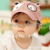 Free shipping baby cotton hat children baseball cap kids sun hat child autumn/summer cap Dog style Cap 3 colors