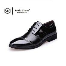 Luxury Brand Fashion Italienische Männer Lackleder Oxford Schuhe Mens Lace Up Flache Schwarz Geschäfts Hochzeit Kleid Schuh Zapatos Hombre