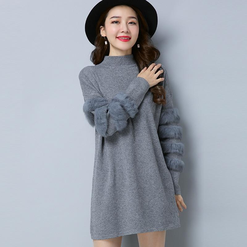 Fluffy Trui Dames.Women Oversized Fur Sweater Winter Truien Dames Fluffy Sweater Tunic