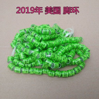 Access Control 8mm Inner-ring Size 2019 Pigeon Rings Grass Green Au Birds Ring 500pcs/lot Pure White And Translucent Access Control Cards