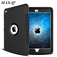 MAX-Q עבור אפל iPad mini 2 1 3 רשתית ילדים בטוחים שריון עמיד הלם Heavy Duty PU + TPU + מחשב הקשיח Case כיסוי w/סרט מגן מסך