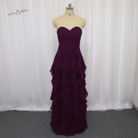 Vestido Madrinha De Casamento Turquoise Long Bridesmaid Dress Ruffles Sweetheart Modest Dress For Beach Weddings Guest