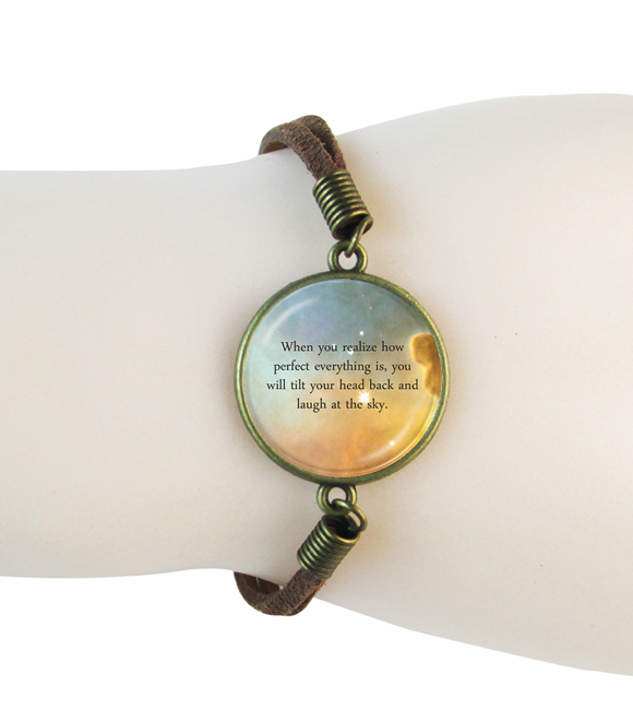custom quote space bracelet personal jewelry for poem song lyrics or