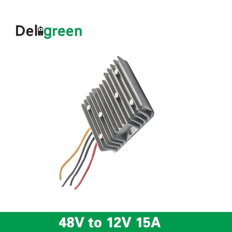48V to 12V 15A 180W wide input DC DC Converter Regulator Car Step Down Reducer Buck converter power supply free shipping water proof dc dc converter regulator reducer 48v down to 12v 50a