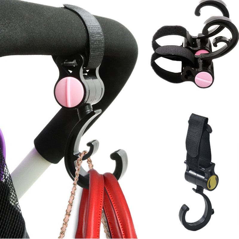 Baby stroller hook-up 360-degree rotating magic paste hookup children accessories