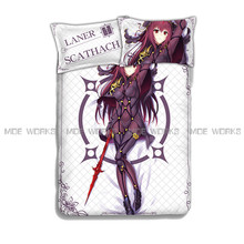Fate Stay Night Grand Order Coverlet Sheet Saber Bedclothes Bedspread Saber Flat Sheet Scathach Bed Sheet Set