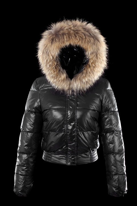 Ladies Down Coat Big Fur Collar Short Design Hooded Brand Women's ...