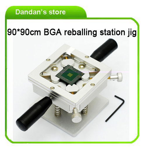 Free Shipping 90mmx90mm BGA Reballing Station Jig with Handles Support PS3 Reballing Dual Direction Position for BGA Repair now foods candida support 90 veg capsules free shipping