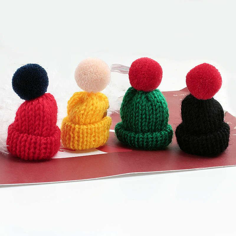 Colorful Mini Lavorato A Maglia Cappello Carino Spilla di Lana Spille Spilli Donne Maglione Collare Distintivo Femminile Accessori Gioielli Regali Di Natale