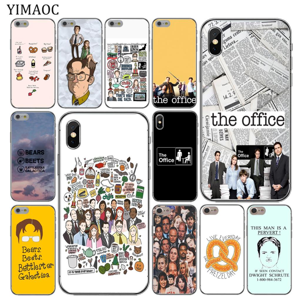 the best attitude f39d5 d845c The Office Funny Humor Soft Silicone Cover Apple Iphone XS Max XR X 6 6S 7  8 Plus 5 5S SE 10 TPU Phone Cases