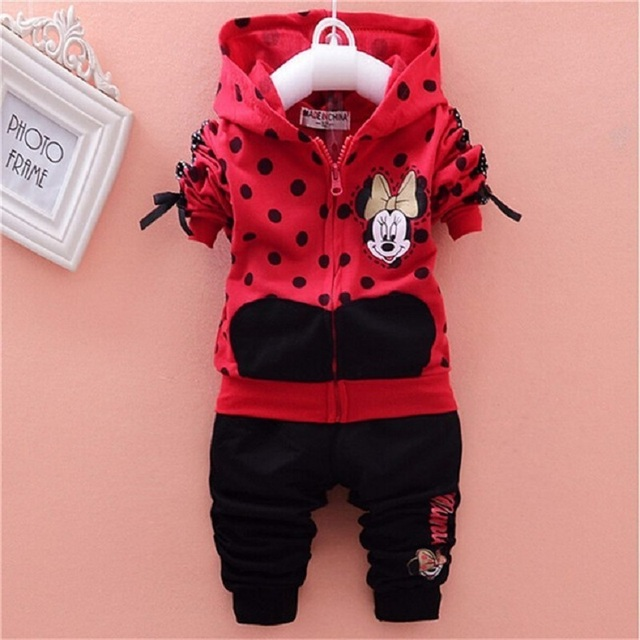 Baby Girls Clothes Sets Minnie Autumn Christmas Children Clothing Sets Wear Cotton Tracksuits Kids Clothes Suit Bebek Giyim