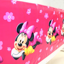 Baby Kids Birthday Party Decoration Mouse Theme Disposable Tablecloth Tablecover Party Supplies 1.08*1.8M(China)