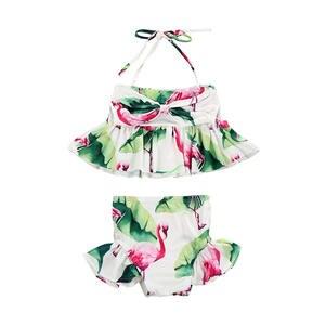 dc7daedcd8 2 Pcs Set Costume Bikini Swimsuit Bathing Suit 2018 Newborn Toddler Infant  Child